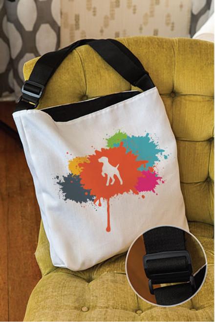 Splatter German Shorthaired Pointer Adjustable Tote Bag
