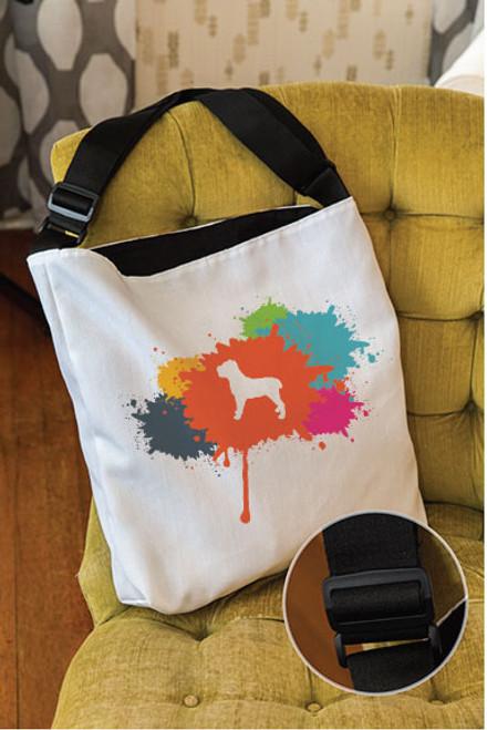 Splatter Cane Corso Adjustable Tote Bag