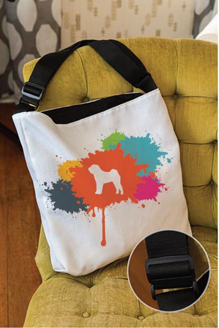Splatter Shar-Pei Adjustable Tote Bag