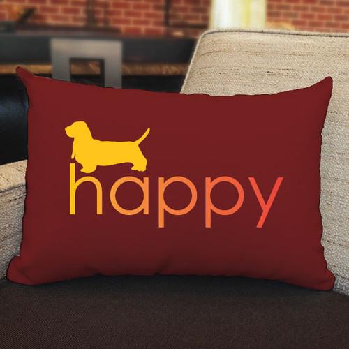 Righteous Hound - Happy Basset Hound Pillow