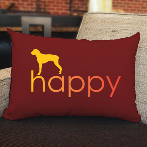 Righteous Hound - Happy Boxer Pillow