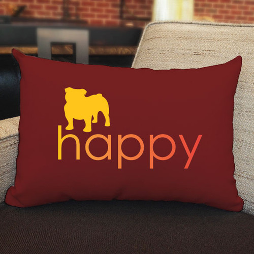 Righteous Hound - Happy Bulldog Pillow