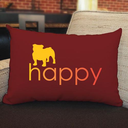 Righteous Hound - Happy Bulldog Pillow