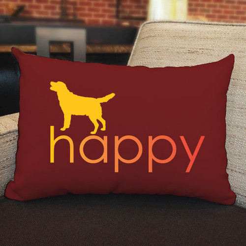 Righteous Hound - Happy Lab Pillow