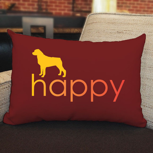 Righteous Hound - Happy Rottweiler Pillow
