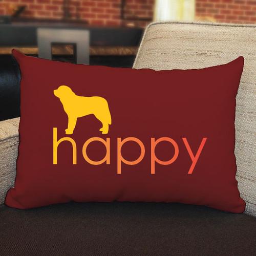 Righteous Hound - Happy Saint Bernard Pillow