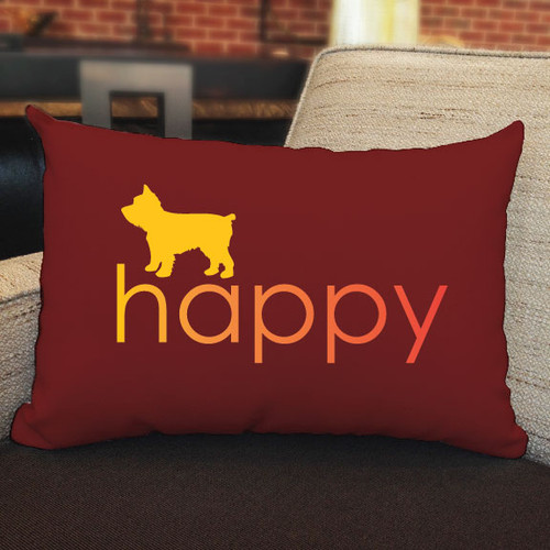 Righteous Hound - Happy Yorkie Pillow