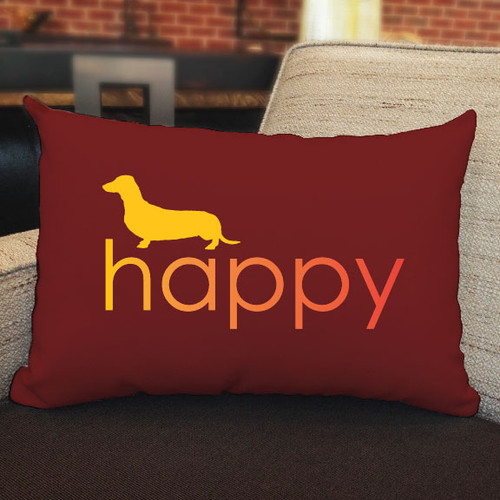 Righteous Hound - Happy Dachshund Pillow