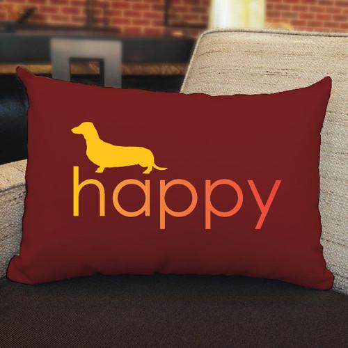 Righteous Hound - Happy Dachshund Pillow