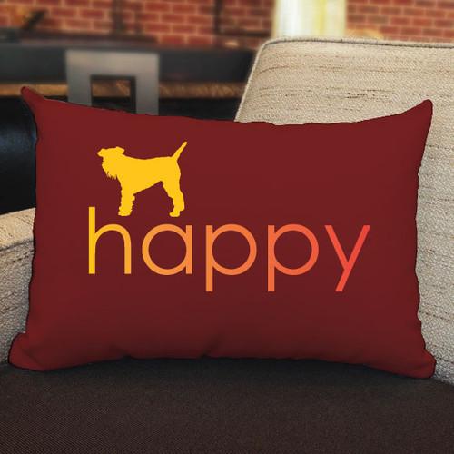 Righteous Hound - Happy Schnauzer Pillow
