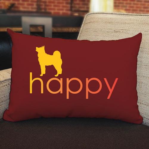 Righteous Hound - Happy Akita Pillow