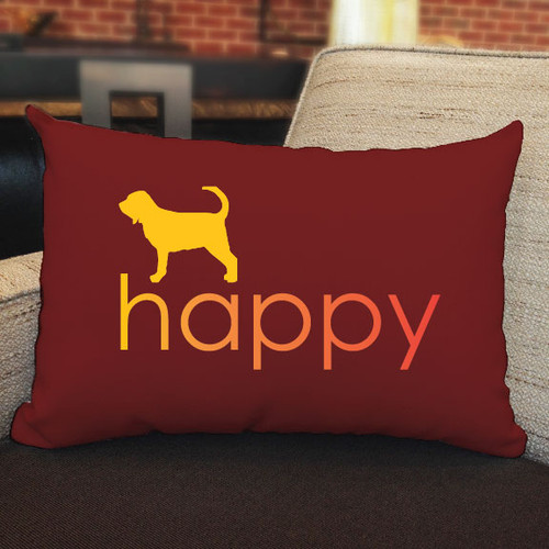 Righteous Hound - Happy Bloodhound Pillow