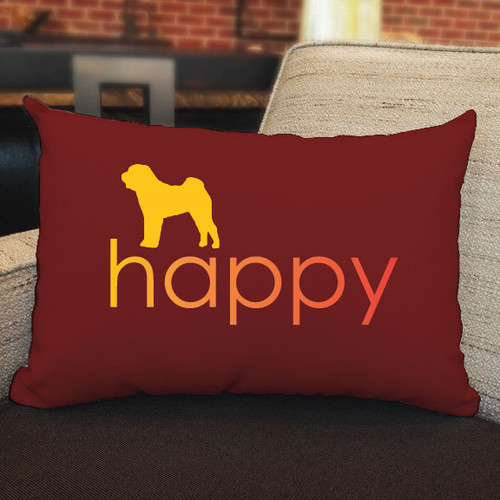 Righteous Hound - Happy Shar-Pei Pillow