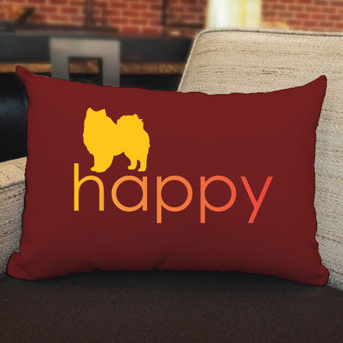Righteous Hound - Happy American Eskimo Dog Pillow