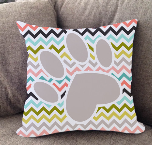 Chevron Paw Pillow