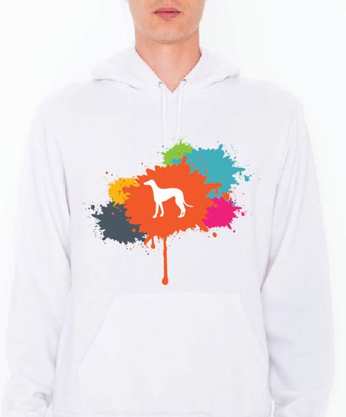 Unisex Splatter Greyhound Hoodie