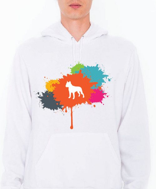 Unisex Splatter Staffordshire Terrier Hoodie