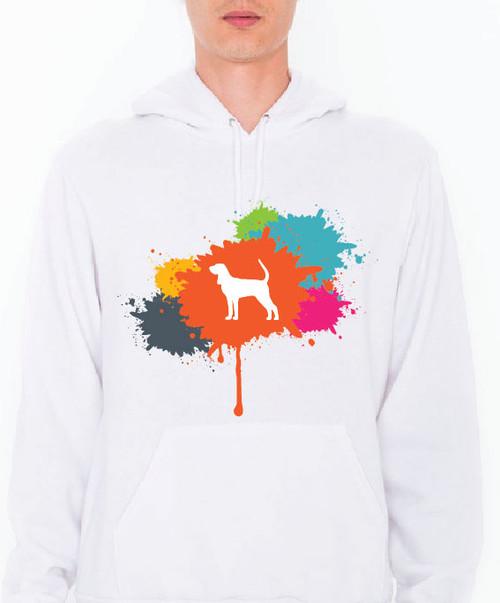 Unisex Splatter Coonhound Hoodie