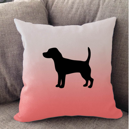 Righteous Hound - White Ombre Beagle Pillow