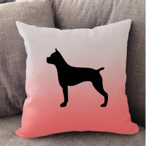 Righteous Hound - White Ombre Boxer Pillow