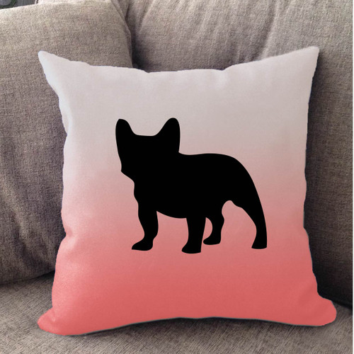 Righteous Hound - White Ombre French Bulldog Pillow