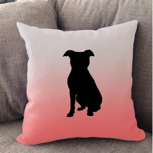 Righteous Hound - White Ombre Pitbull Pillow