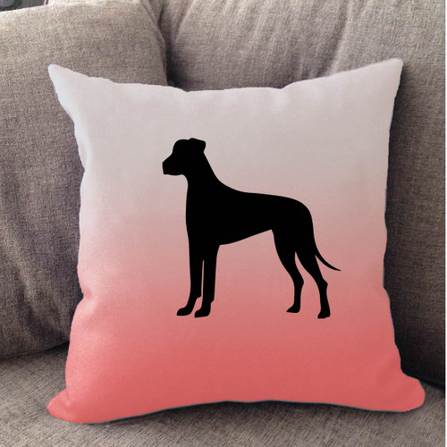 Righteous Hound - White Ombre Great Dane Pillow