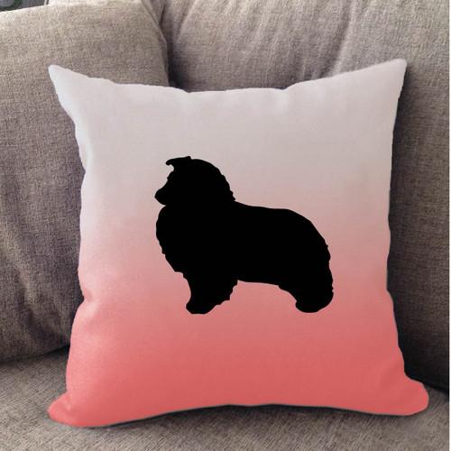 Righteous Hound - White Ombre Shetland Sheepdog Pillow
