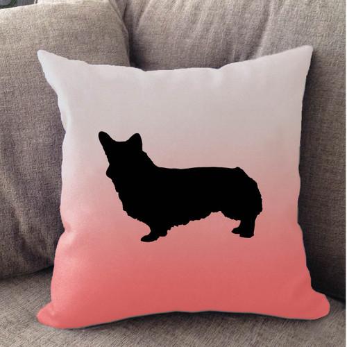 Righteous Hound - White Ombre Corgi Pillow