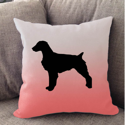 Righteous Hound - White Ombre Brittany Pillow