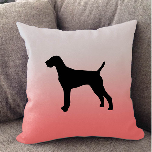 Righteous Hound - White Ombre Vizsla Pillow