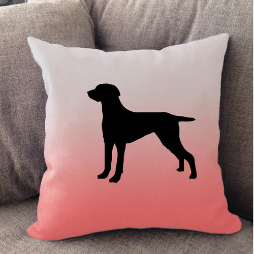Righteous Hound - White Ombre Weimaraner Pillow