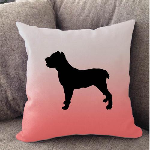 Righteous Hound - White Ombre Cane Corso Pillow
