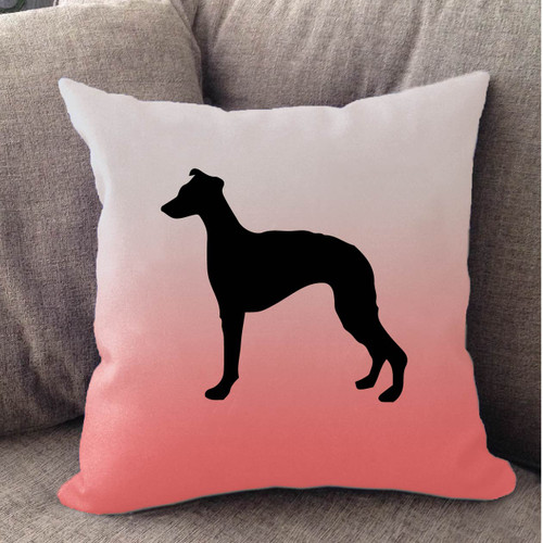 Righteous Hound - White Ombre Whippet Pillow
