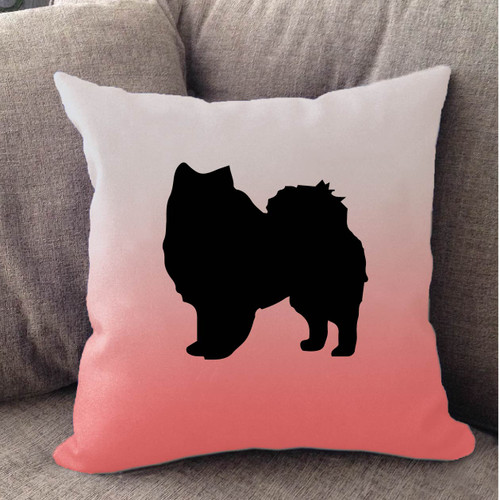 Righteous Hound - White Ombre American Eskimo Dog Pillow