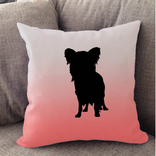 Righteous Hound - White Ombre Papillon Pillow