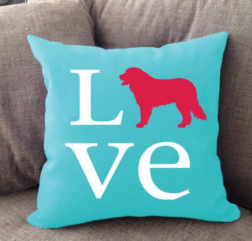 Bernese Mountain Dog Love Pillow