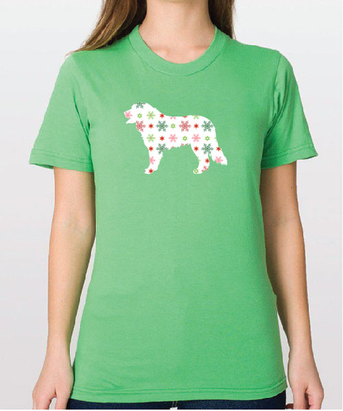 Unisex Holiday Bernese Mountain Dog T-Shirt