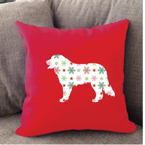 Bernese Mountain Dog Holiday Pillow