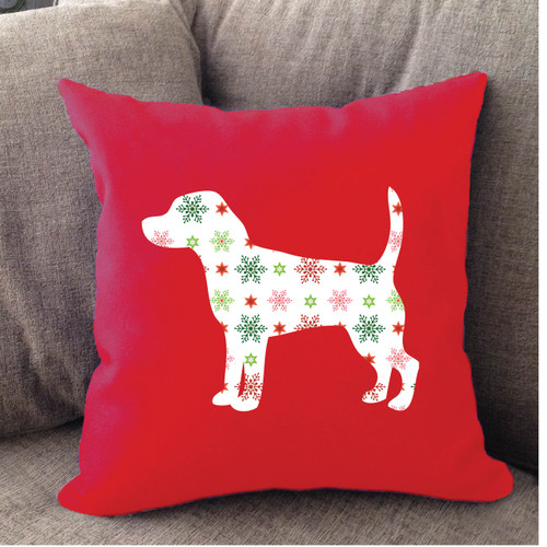 Righteous Hound - Red Holiday Beagle Pillow