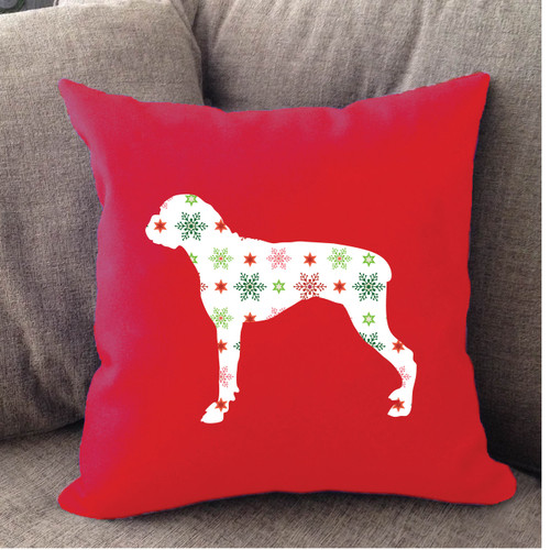 Righteous Hound - Red Holiday Boxer Pillow
