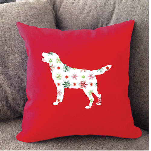 Righteous Hound - Red Holiday Lab Pillow