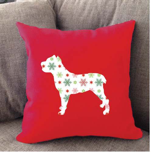 Righteous Hound - Red Holiday Cane Corso Pillow