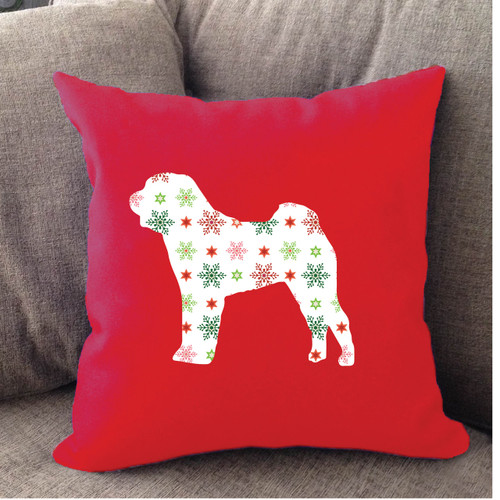 Righteous Hound - Red Holiday Shar-Pei Pillow