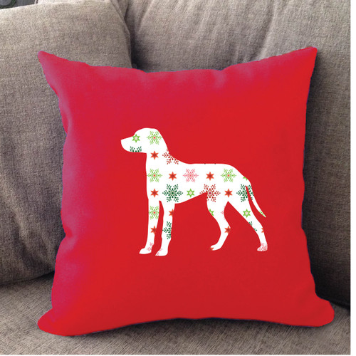Righteous Hound - Red Holiday Dalmatian Pillow
