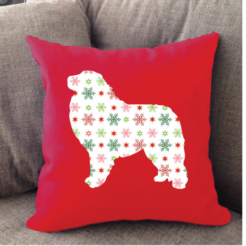Righteous Hound - Red Holiday Great Pyrenees Pillow
