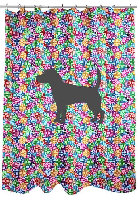 Righteous Hound - Circle Beagle Shower Curtain
