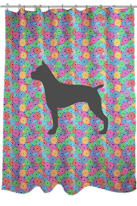 Righteous Hound - Circle Boxer Shower Curtain