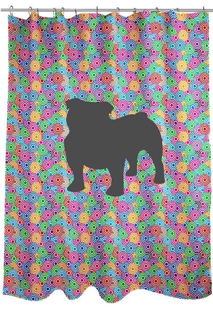 Righteous Hound - Circle Bulldog Shower Curtain