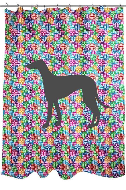 Righteous Hound - Circle Greyhound Shower Curtain